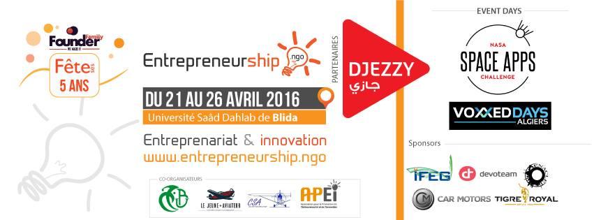 Événement sur l'entrepreneuriat du 21 au 26 avril à l'université Saad Dahlab de Blida
